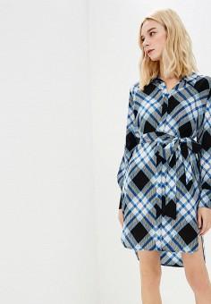 Платье, Diane von Furstenberg, цвет: синий. Артикул: DI001EWBSVM3. Одежда / Платья и сарафаны