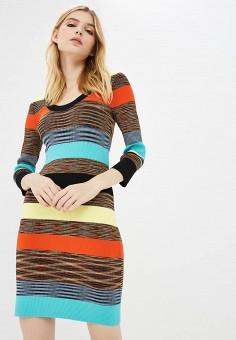 Платье, Diane von Furstenberg, цвет: мультиколор. Артикул: DI001EWBSVO2. Одежда / Платья и сарафаны