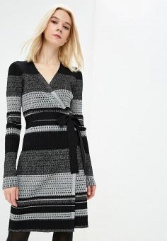 Платье, Diane von Furstenberg, цвет: серый. Артикул: DI001EWBSWE2. Одежда / Платья и сарафаны