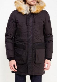 Куртка утепленная, Diesel, цвет: черный. Артикул: DI303EMYUC26. Одежда / Верхняя одежда / Пуховики и зимние куртки