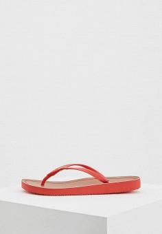 Сланцы, DKNY, цвет: красный. Артикул: DK001AWBGEE4.