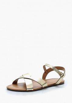 Сандалии, Dorothy Perkins, цвет: золотой. Артикул: DO005AWASBH4. Обувь / Сандалии
