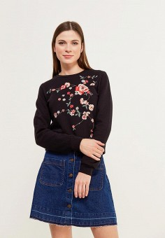 Свитшот, Dorothy Perkins, цвет: черный. Артикул: DO005EWAMML6. Dorothy Perkins