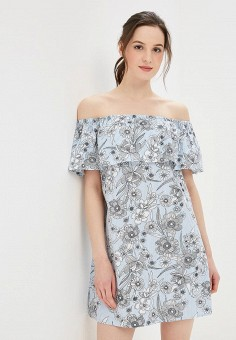 Платье, Dorothy Perkins, цвет: голубой. Артикул: DO005EWBJDH6. Одежда