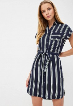 Платье, Dorothy Perkins, цвет: синий. Артикул: DO005EWBQCR6. Одежда / Платья и сарафаны