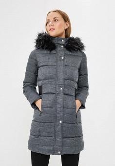 Куртка утепленная, Dorothy Perkins, цвет: серый. Артикул: DO005EWCEXD4. Одежда / Верхняя одежда / Зимние куртки