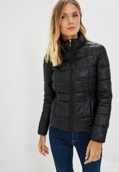 Куртка утепленная, Dorothy Perkins, цвет: черный. Артикул: DO005EWCGQG1. Одежда / Верхняя одежда / Демисезонные куртки