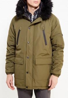 Парка, d-Struct, цвет: хаки. Артикул: DS003EMWSR71. Одежда / Верхняя одежда / Пуховики и зимние куртки