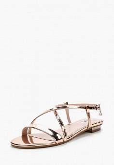 Сандалии, Dune, цвет: розовый. Артикул: DU001AWZSN03. Обувь / Сандалии