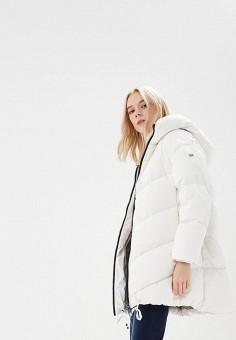 Пуховик, Duno, цвет: белый. Артикул: DU013EWCIDC2. Premium / Одежда / Верхняя одежда / Зимние куртки