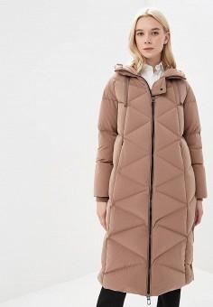 Пуховик, Duno, цвет: бежевый. Артикул: DU013EWCIDC6. Premium / Одежда / Верхняя одежда / Зимние куртки