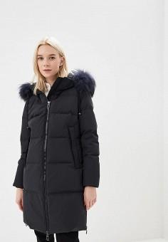 Пуховик, Duno, цвет: черный. Артикул: DU013EWCIDC8. Premium / Одежда / Верхняя одежда / Зимние куртки