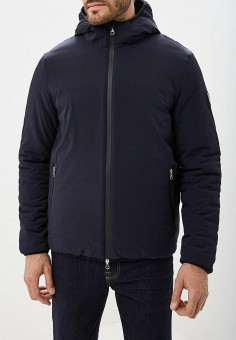 Куртка утепленная, EA7, цвет: синий. Артикул: EA002EMBNZH3. Одежда / Верхняя одежда / Демисезонные куртки
