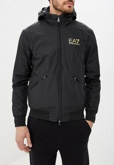 Куртка утепленная, EA7, цвет: черный. Артикул: EA002EMBNZI1. Одежда / Верхняя одежда / Демисезонные куртки