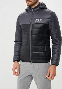 Куртка утепленная, EA7, цвет: серый. Артикул: EA002EMBNZI6. Одежда / Верхняя одежда / Демисезонные куртки