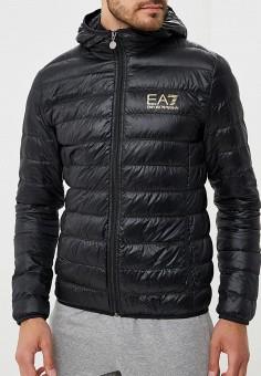 Пуховик, EA7, цвет: черный. Артикул: EA002EMBOAR2. Одежда / Верхняя одежда / Пуховики и зимние куртки