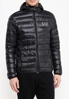 Пуховик, EA7, цвет: черный. Артикул: EA002EMJXQ37. Одежда / Верхняя одежда / Пуховики и зимние куртки
