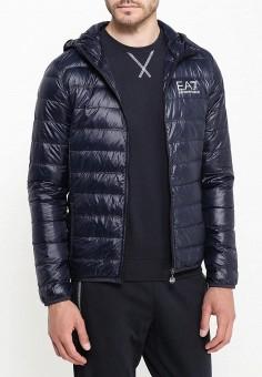 Пуховик, EA7, цвет: синий. Артикул: EA002EMJXS94. Одежда / Верхняя одежда / Пуховики и зимние куртки
