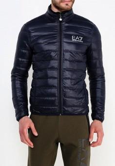 Пуховик, EA7, цвет: синий. Артикул: EA002EMUEE42. Одежда / Верхняя одежда / Пуховики и зимние куртки