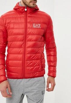 Пуховик, EA7, цвет: красный. Артикул: EA002EMUEE43. Одежда / Верхняя одежда / Пуховики и зимние куртки