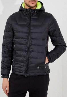 Пуховик, EA7, цвет: черный. Артикул: EA002EMUEE57. Одежда / Верхняя одежда / Пуховики и зимние куртки