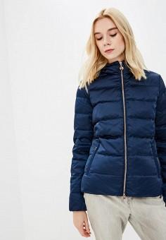 Пуховик, EA7, цвет: синий. Артикул: EA002EWBODU6. Одежда / Верхняя одежда / Зимние куртки