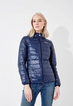 Пуховик, EA7, цвет: синий. Артикул: EA002EWRBB96. Одежда / Верхняя одежда / Пуховики и зимние куртки