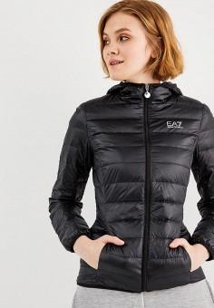 Пуховик, EA7, цвет: черный. Артикул: EA002EWUEJ07. Одежда / Верхняя одежда / Пуховики и зимние куртки