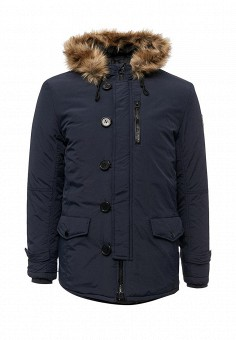 Куртка утепленная, E-Bound, цвет: синий. Артикул: EB002EMVPU54. Мужская одежда / Верхняя одежда / Пуховики и зимние куртки
