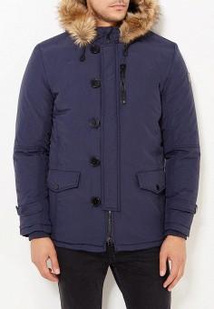 Куртка утепленная, E-Bound, цвет: синий. Артикул: EB002EMVPU54. Одежда / Верхняя одежда / Пуховики и зимние куртки