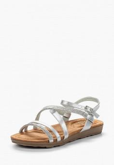 Сандалии, Ella, цвет: серебряный. Артикул: EL023AWZWS28. Обувь / Сандалии