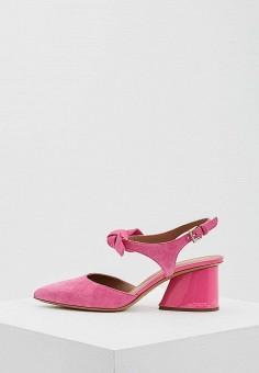 Босоножки, Emporio Armani, цвет: розовый. Артикул: EM598AWZVZ89. Premium / Обувь / Босоножки