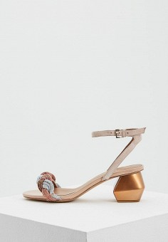 Босоножки, Emporio Armani, цвет: розовый. Артикул: EM598AWZVZ90. Premium / Обувь / Босоножки