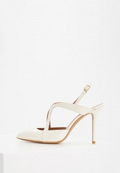 Босоножки, Emporio Armani, цвет: белый. Артикул: EM598AWZWA01. Premium / Обувь / Босоножки