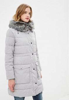 Куртка утепленная, Emporio Armani, цвет: серый. Артикул: EM598EWBLMW9. Premium / Одежда / Верхняя одежда / Зимние куртки