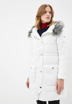 Куртка утепленная, Emporio Armani, цвет: белый. Артикул: EM598EWBLMX0. Premium / Одежда / Верхняя одежда / Зимние куртки