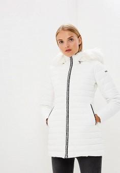 Куртка утепленная, Emporio Armani, цвет: белый. Артикул: EM598EWBLMX3. Premium / Одежда / Верхняя одежда / Зимние куртки