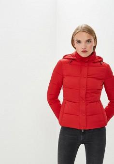 Куртка утепленная, Emporio Armani, цвет: красный. Артикул: EM598EWBLMX6. Premium / Одежда / Верхняя одежда / Зимние куртки