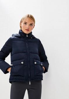 Куртка утепленная, Emporio Armani, цвет: синий. Артикул: EM598EWBLMX7. Premium / Одежда / Верхняя одежда / Зимние куртки