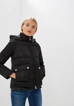 Куртка утепленная, Emporio Armani, цвет: черный. Артикул: EM598EWBLMX8. Premium / Одежда / Верхняя одежда / Зимние куртки