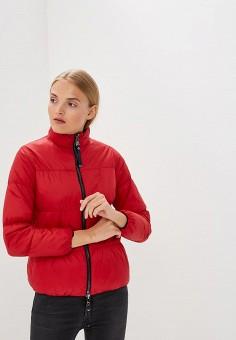 Куртка утепленная, Emporio Armani, цвет: красный, синий. Артикул: EM598EWBLMY0. Premium / Одежда / Верхняя одежда / Зимние куртки