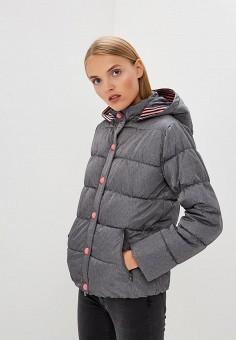 Куртка утепленная, Emporio Armani, цвет: серый. Артикул: EM598EWBLMZ0. Premium / Одежда / Верхняя одежда / Зимние куртки