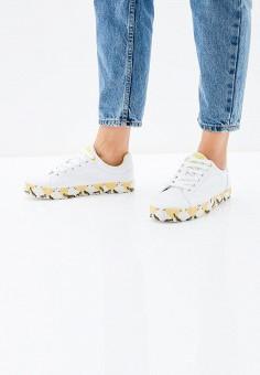 Кеды, Enjoin', цвет: белый. Артикул: EN009AWAJMS8. Обувь / Кроссовки и кеды / Кеды