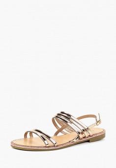 Сандалии, Exquily, цвет: золотой. Артикул: EX003AWBTLR4. Обувь / Сандалии