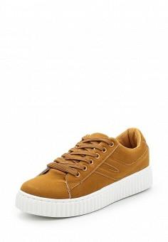 Кеды, Fashion & Bella, цвет: коричневый. Артикул: FA034AWAWDQ3. Обувь / Кроссовки и кеды