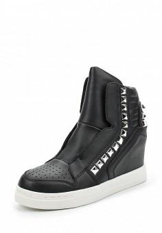 Кеды на танкетке, Fashion & Bella, цвет: черный. Артикул: FA034AWAWDQ5. Обувь / Кроссовки и кеды