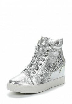 Кеды на танкетке, Fashion & Bella, цвет: серебряный. Артикул: FA034AWAWDQ8. Обувь / Кроссовки и кеды