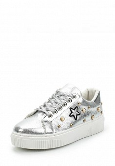 Кеды, Fashion & Bella, цвет: серебряный. Артикул: FA034AWAWDR5. Обувь / Кроссовки и кеды