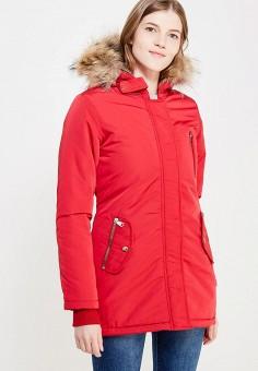 Куртка утепленная, Fascinate, цвет: красный. Артикул: FA042EWWRB22. Одежда / Верхняя одежда