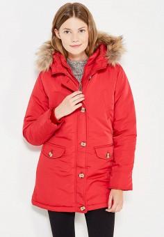 Куртка утепленная, Fascinate, цвет: красный. Артикул: FA042EWWRB25. Одежда / Верхняя одежда